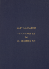 Daily Operational Narratives - October 1939