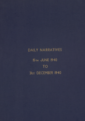 Daily Operational Narratives - June 1940