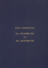 Daily Operational Narratives - December 1950