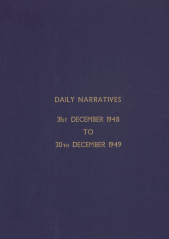 Daily Operational Narratives - December 1948