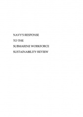 Submarine Workforce Sustainability Review cover image.