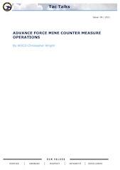 Tac Talks No. 9 - Advance Force Mine Counter Measure Operations
