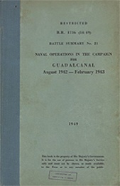 Naval Operations in the Campaign for Guadalcanal