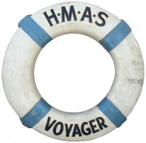 HMAS Voyager's life ring.