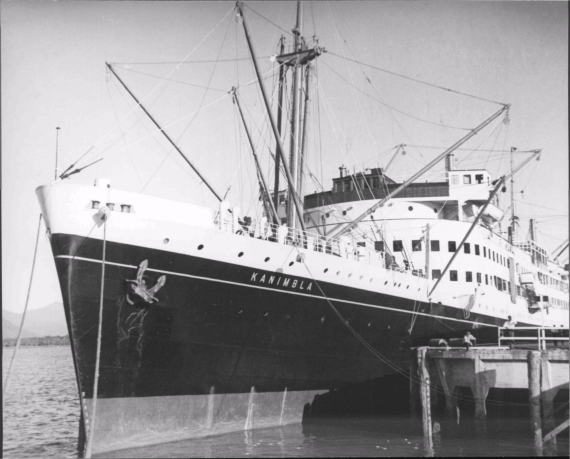 HMAS Kanimbla was requisitioned in 1939 and was converted to an Armed Merchant Cruiser