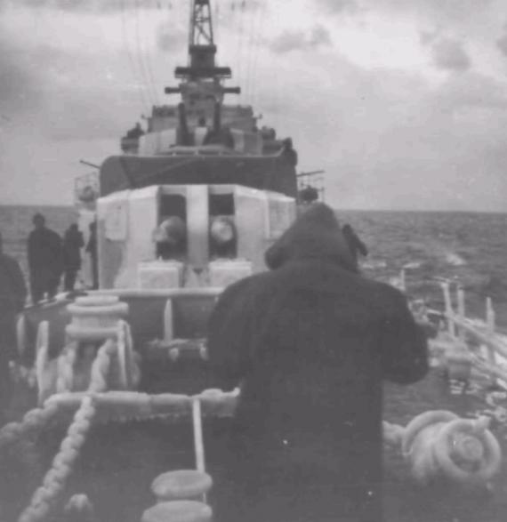 Cold temperatures onboard HMAS Bataan