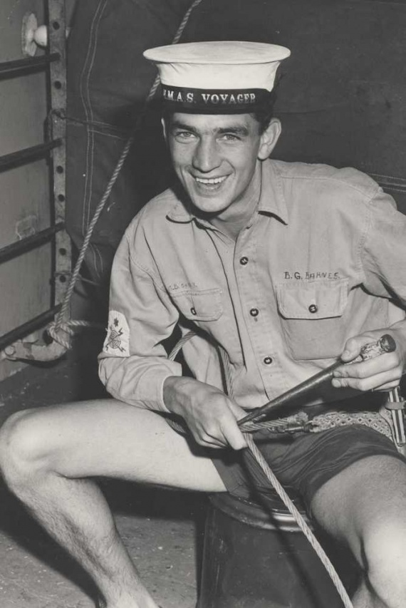 Able Seaman George Barnes poses for the camera during fleet exercises