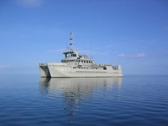 HMAS Mermaid in February 2010.