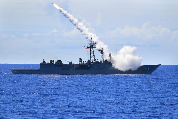 HMAS Newcastle fires an Standard Missile (SM-2) as part of the Surface to Air Missile Exercise (SAMEX) during RIMPAC 2010.