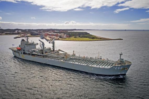 HMAS Sirius departs Fleet Base West, Western Australia, for a four month deployment.