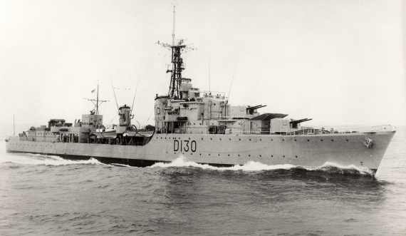 After recommissioning in 1952, HMAS Arunta had her pennant number changed to D130 and was reclassified as an anti-submarine destroyer.