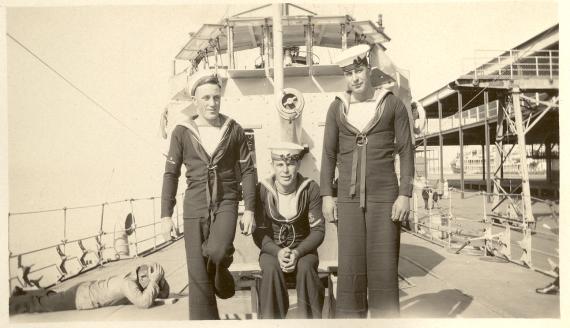Able seamen aboard Success circa 1930