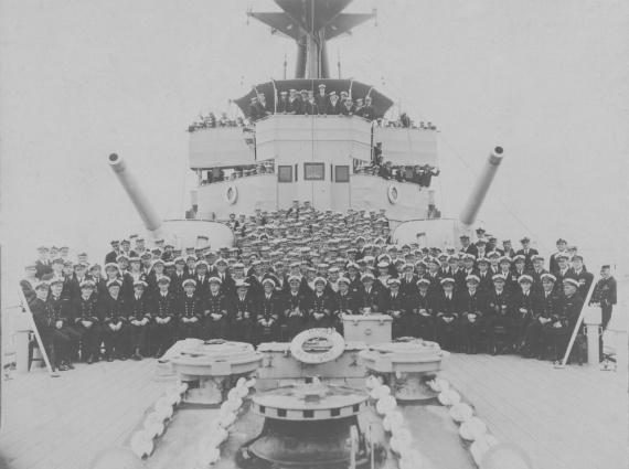 HMAS Adelaide crew, circa 1924.