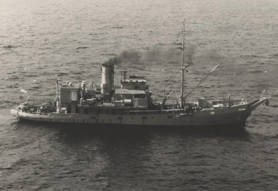 HMAS Kookaburra was used for training, boom defence and examination during her commissison