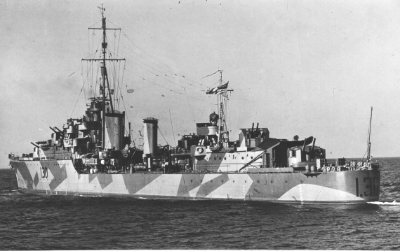 HMAS Arunta was the first of three Tribal Class Destroyers to be commissioned into the Royal Australian Navy on 30 March 1942