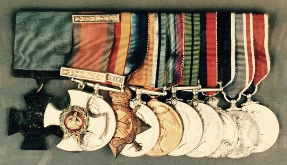 Commander BJD Guy, VC, DSO decorations and medals which are presently on display in the Imperial War Museum, London.