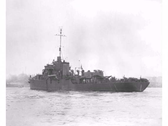 Barcoo commissioned in time to play an active roll in the closing stages of the Pacific war.