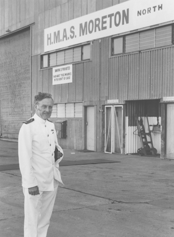 Captain Bill Owen, RAN who oversaw the purchase of the Moreton North facility.