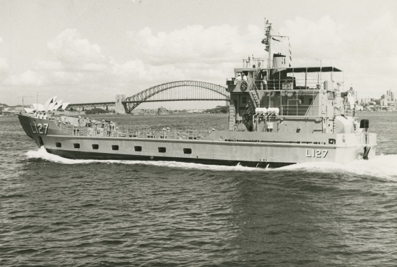 HMAS Brunei in Sydney for trials and exercises, 19 January 1973