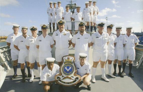 HMAS Bundaberg's commissioning crew