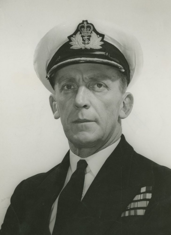 Captain G.J.B. Crabb, DSC, RAN, Voyager's first commanding officer.