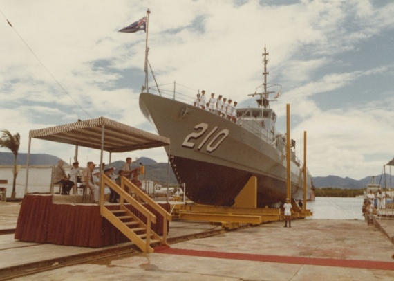 Cessnock was launched by Lady Joan McNamara, wife of the Chief of Defence Force Staff on 5 March 1983 at North Queensland Engineers and Agents, Cairns, Queensland.