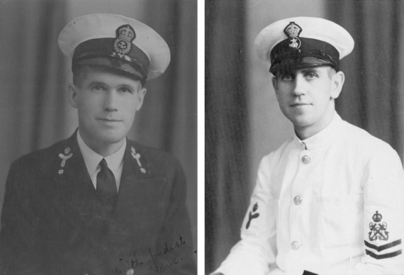 Left: Chief Petty Officer Reg Bonner. Right: Petty Officer Allan Buchanan