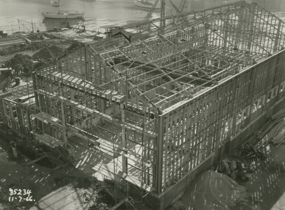 Support facilities under construction in July 1966