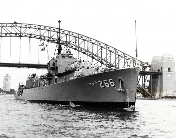 HMAS Diamantina in Sydney Harbour