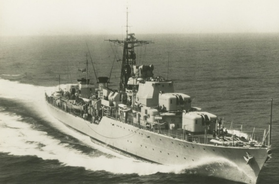 HMS Daring, lead ship of the new Daring Class destroyers.