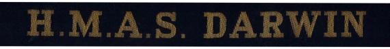 HMAS Darwin cap tally.