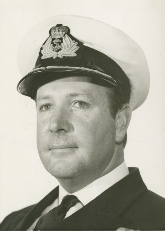 Commander G.J.H. Woolrych, RAN who assumed command of Derwent in October 1966