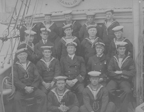 Members of Franklin's ship's company, circa 1915.