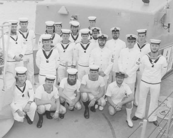 Ship's company of HMAS Geelong.