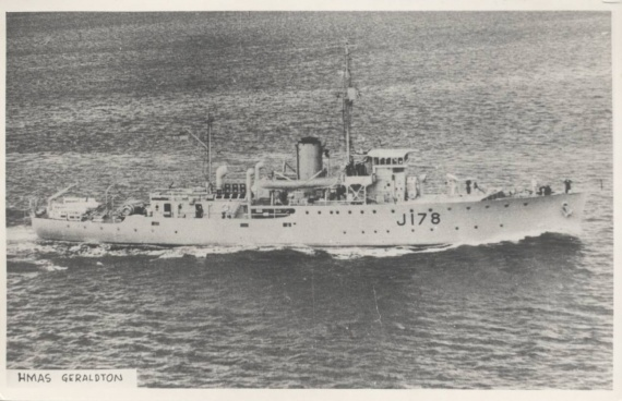 HMAS Geraldton was one of sixty Australian Minesweepers built for service during World War II