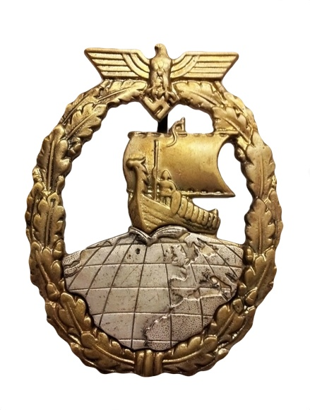 German auxiliary cruiser war badge