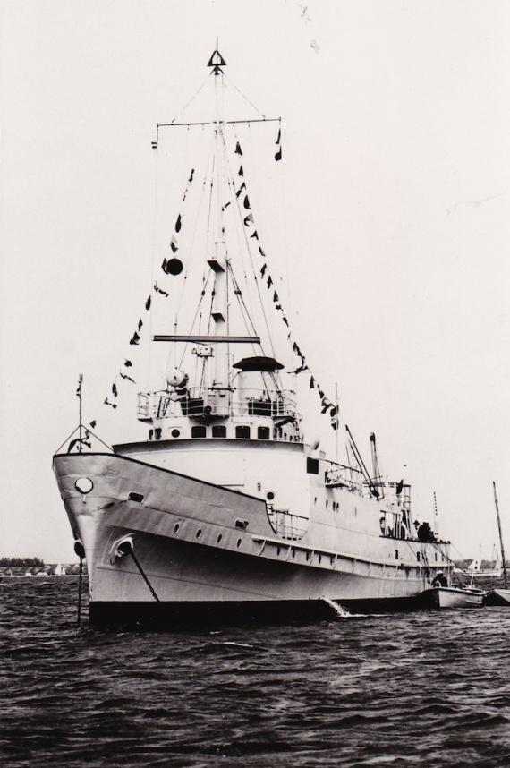 HMAS Abraham Crijnssen dressing ship.
