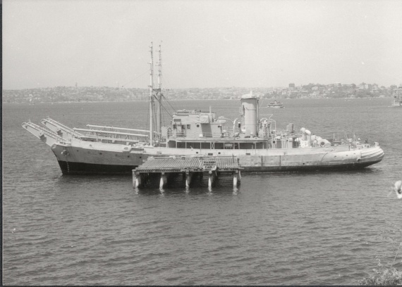 Launched in 1940, HMAS Kangaroo spent most of World War II laying anti-submarine net in Darwin