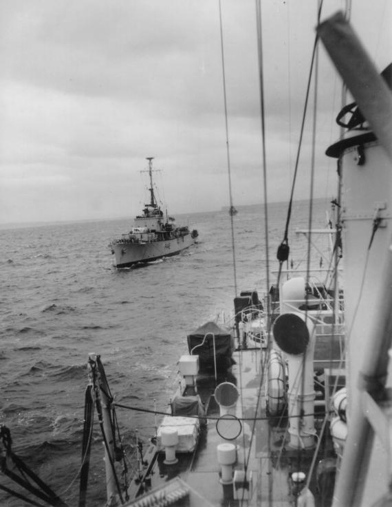 Shot of HMAS Murchison taken from HMAS Culgoa off Jervis Bay