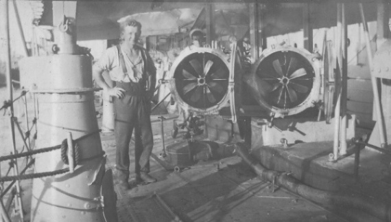 Two of Swordsman's 21-inch torpedos loaded in their tubes.