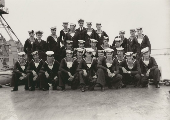 Some of HMAS Sydney's Western Australian crew members during their short visit to Fremantle