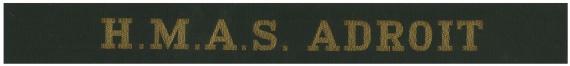 HMAS Adroit's cap tally.