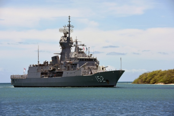 HMAS Warramunga arrives at Joint Base Pearl Harbor-Hickam for RIMPAC 2016.