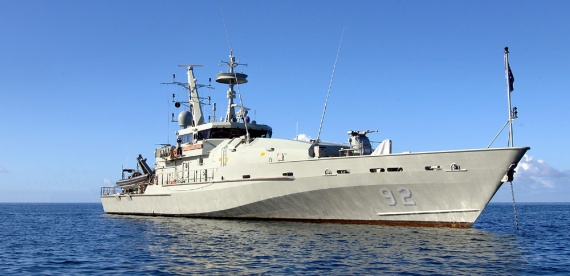 Armidale class patrol boat, HMAS Wollongong.