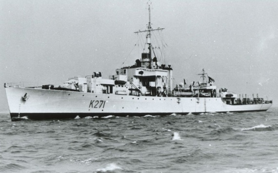 HMS Plym in which the Operation HURRICANE nuclear device was detonated