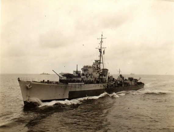 HMS Quadrant prior to her transfer into the Royal Australian Navy, 1945