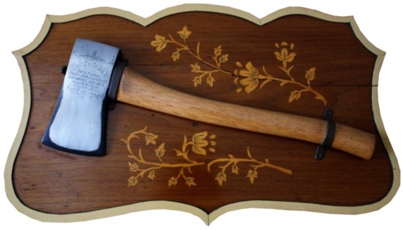 The axe used to ceremoniously launch both AE1 and AE2. (Tony Todd collection)