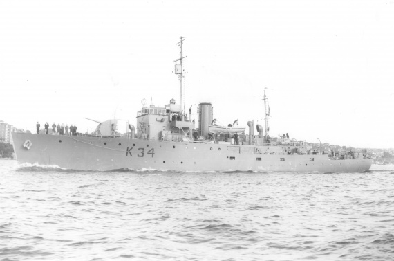 HMAS Ararat in Sydney during WWII