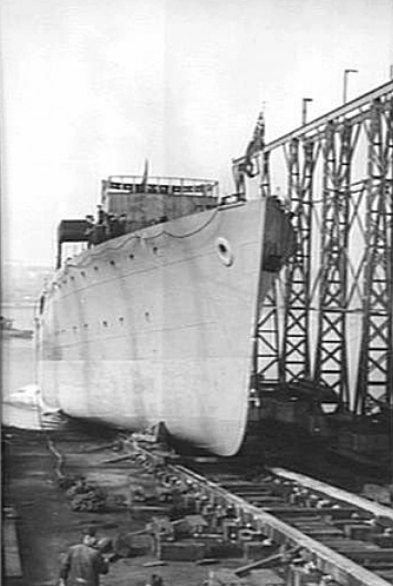 Inverell prior to launching.