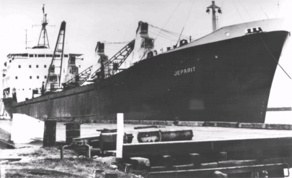 HMAS Jeparit was acquired by the Department of Shipping and Transport to carry supplies for the Australian forces engaged in Vietnam War